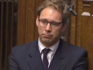 Supplied Editorial Tobias Ellwood weeps in Commons. Picture: Sky News