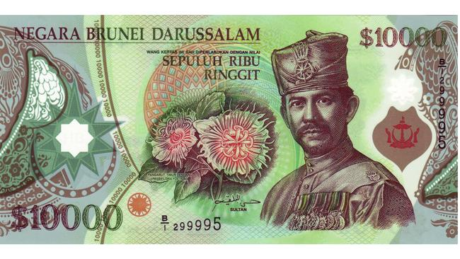 $10000 Brunei dollars. Picture: Wikipedia Commons