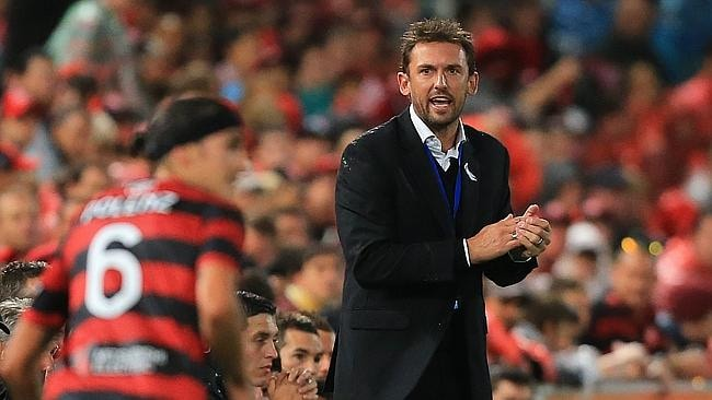 Tony Popovic during the Western Sydney Wanderers v Melbourne Victory A League game at Pirtek Stadium, Parramatta. pic mark evans