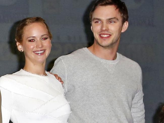 About a boy ... Jennifer Lawrence and Nicholas Hoult.