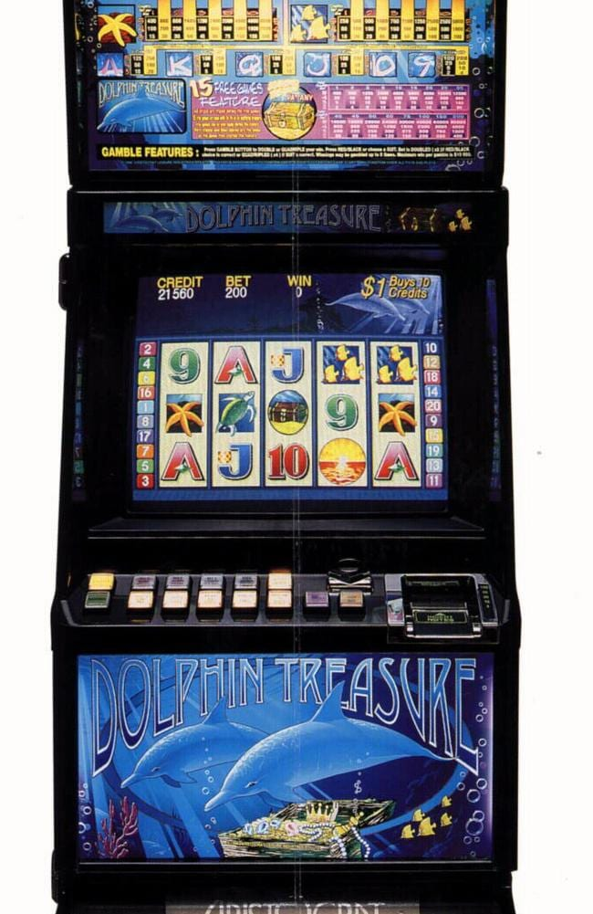 Dolphin Treasure poker machine is under the microscope for features described as 'deceptive' and 'feeding addiction'.