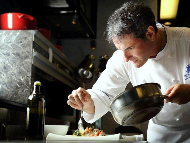 Pino Lavarra, Chef Of Tosca Restaurant At The Ritz Carlton Hong Kong.