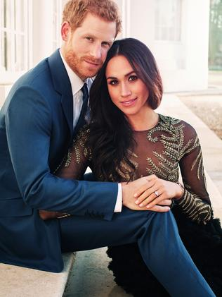 Meghan Markle wore this $99,000 Ralph & Russo dress for her engagement pics. Picture: Getty