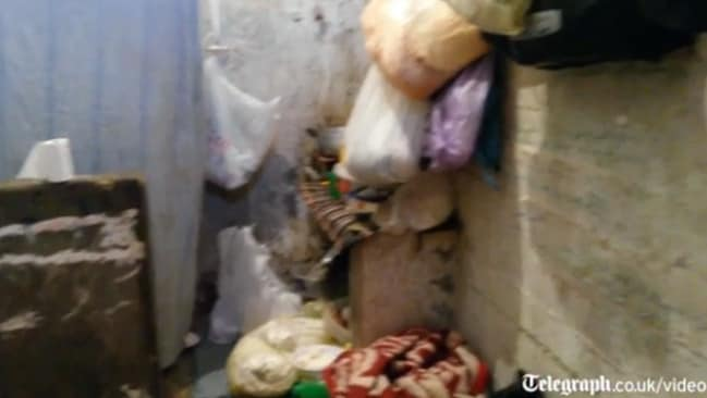 Filthy conditions ... the kitchen and bathroom in an Egyptian prison cell. Picture: The Telegraph