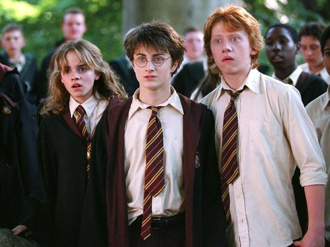 As close as siblings ... Emma Watson as Hermione Granger, Daniel Radcliffe as Harry Potter and Rupert Grint as Ron Weasley in Harry Potter and the Prisoner of Azkaban. Picture: AP Photo/Warner Bros, Murray Close