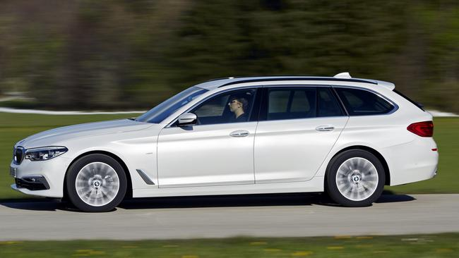 5 Series wagon: Drives as well as the sedan — and better than X5 SUV.