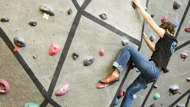No ordinary office. Googlers get a climbing wall at the Colorado HQ.