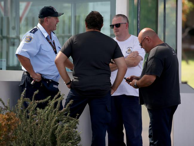 Prison Officers take strike action at jails across NSW with staff walking out during their shifts over proposed staff cuts. Picture: Toby Zerna
