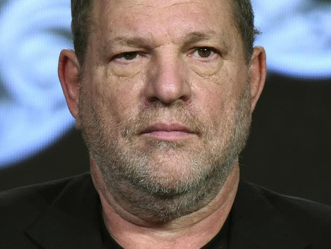 """FILE - In this Jan. 6, 2016, file photo, producer Harvey Weinstein participates in a panel at the A&E 2016 Winter TCA in Pasadena, Calif. The Weinstein Co., mired in a sex scandal, may be putting itself up for sale. The company said Monday, Oct. 16, 2017, that it is getting an immediate cash infusion from Colony Capital and is in negotiations for the potential sale of all or a significant portion of the movie studio responsible for films like """"Shakespeare in Love,"""" and """"Gangs of New York."""" (Photo by Richard Shotwell/Invision/AP, File)"""