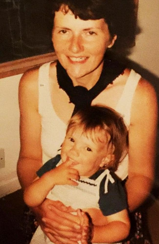 Claira at 18 months with her mother, Jane.