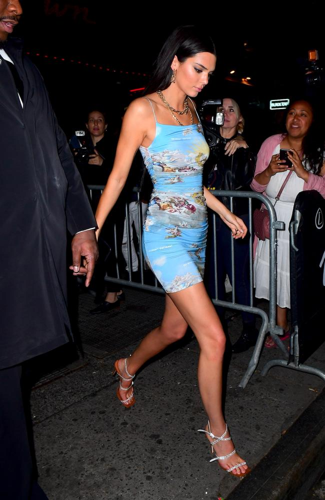 Kendall Jenner went mini after the Met. Picture: Splash