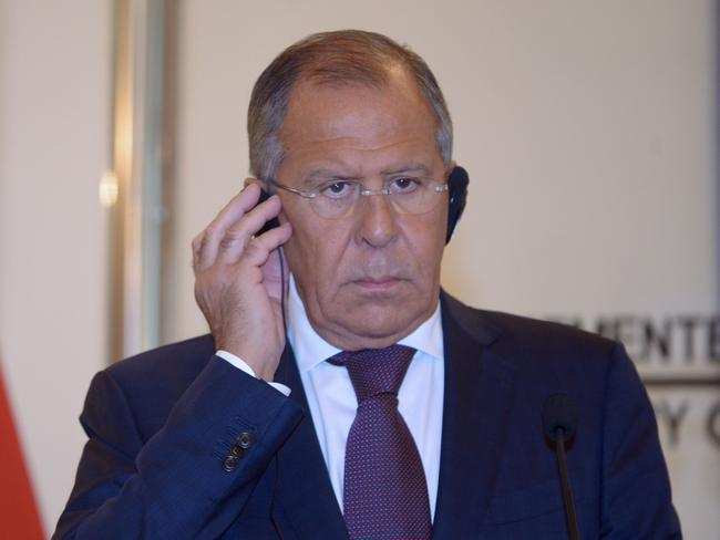 Russian Foreign Minister Sergey Lavrov has expressed alarm over the latest US rhetoric. Picture: Adek Berry/AFP