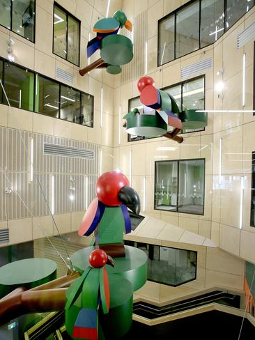 The atrium at the Lady Cilento Children's Hospital at South Brisbane. Picture: Mark Cranitch.