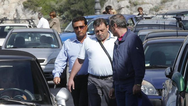 Francesco Schettino, left, the former captain of Costa Concordia,has been labelled ''Captain Coward'' by some. Picture: AP