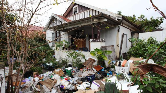 The notorious Bobolas family hoarder house is actually neat and tidy inside, insists owner Mary Bobolas, who bought the house for $15,000 in 1973. Picture: Hollie Adams/The Australian