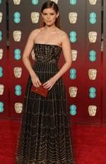US actress Kate Mara poses on the red carpet upon arrival at the BAFTA British Academy Film Awards at the Royal Albert Hall in London on February 18, 2018. Picture: AFP PHOTO / Daniel LEAL-OLIVAS