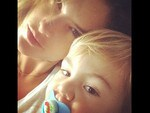 Brazilian model Alessandra Ambrosio with son Noah Phoenix. Picture: Instagram