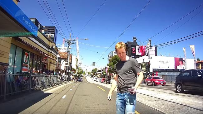 The incident was featured in Dash Cam Owners Australia's February compilation. Picture: Dash Cam Owners Australia.
