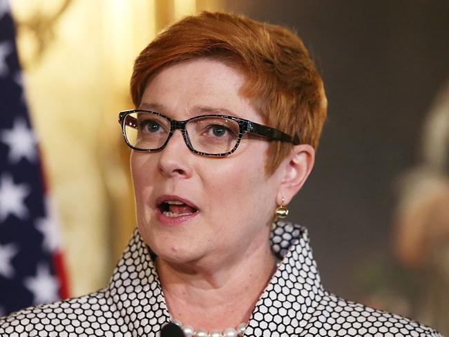 Australian Minister for Defence Marise Payne says Australia will operate two of its P-3 Orion aircraft over Mindanao. Picture: Mark Metcalfe/Getty Images