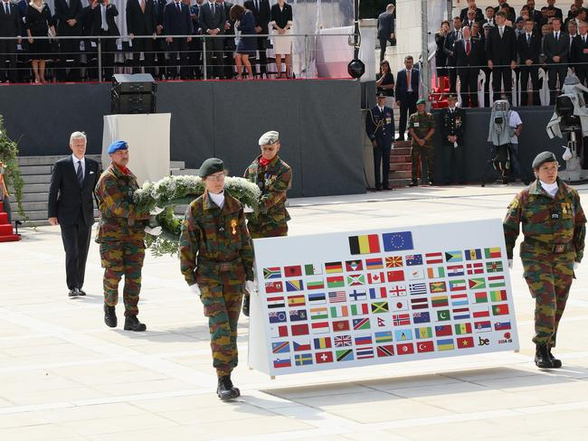 Shared goal of peace ... King Philippe of Belgium at Le Memorial Interallie in Liege, Belgium. Picture: Chris Jackson
