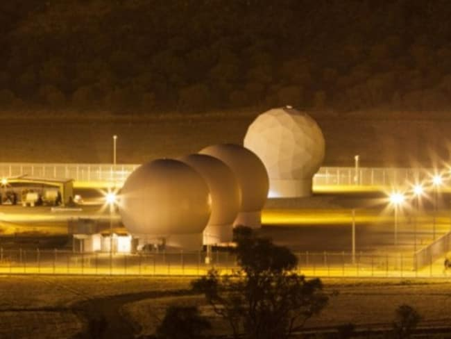 Radomes, which protect the satellite dish inside, at Pine Gap. Picture: Kristian Laemmle-Ruff