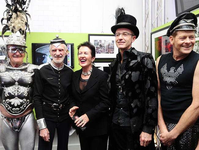 Clover Moore (centre) is right at home among the most alternative members of her community.