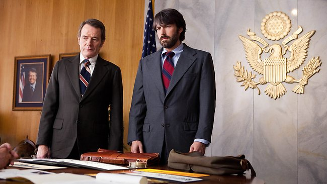 Iran is apparently set to sue Hollywood over the movie Argo, which stars Bryan Cranston, left, as Jack ODonnell and Ben Affleck as Tony Mendez.