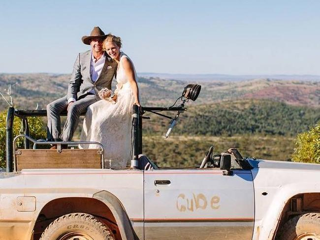 Picture perfect: Six months after their idyllic wedding at the family's remote sheep station, both Tanya Ebert and Michael Burdon are dead. Picture: Facebook