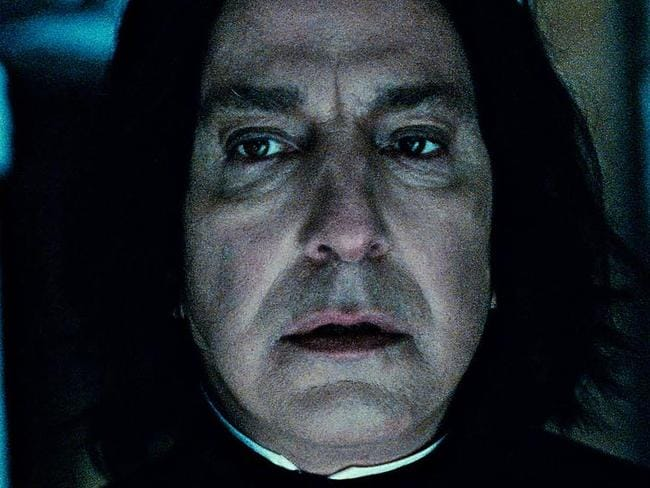 Devastating loss ... Alan Rickman as Professor Snape in a scene from Harry Potter and the Deathly Hallows: Part 2.