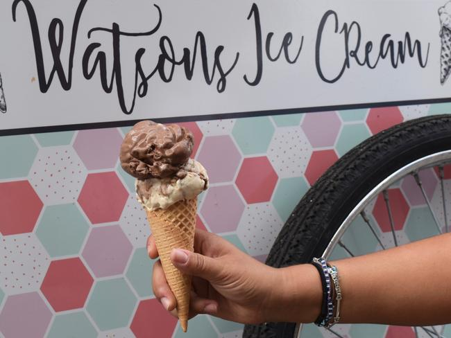 Chocolate and peanut butter gelato at Watsons Ice Cream. Picture: Jenifer Jagielski
