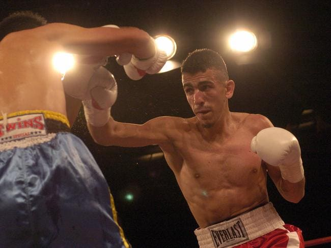 Mohamed Elomar, right, in the ring.