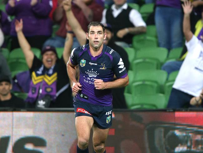 Cameron Smith slotted the game-winning conversion to deny the Broncos in Round 3. Picture:Wayne Ludbey