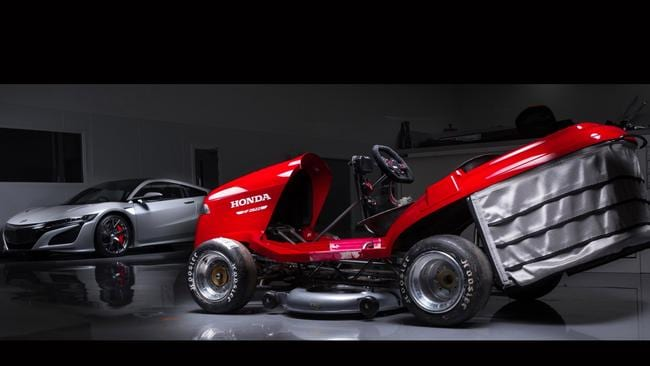 Honda's Mean Mower Mark II will top 200km/h. Pic: Supplied.