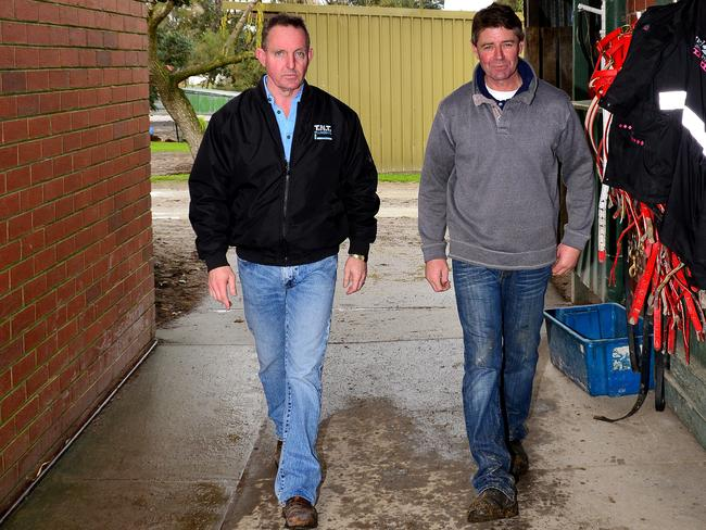 Greg Eurell and Jim Mason believe their partnership can turn their fortunes around. Picture: Derrick den Hollander