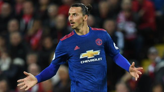 Manchester United's Swedish striker Zlatan Ibrahimovic.