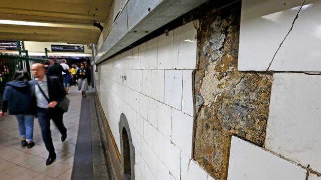 "The station is ""crumbling"" admits the Government. Picture: Tim Carrafa"