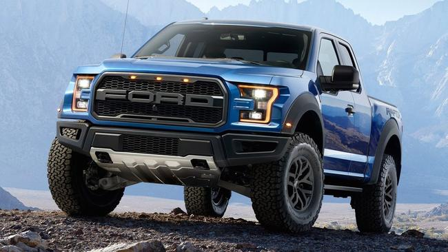 The Ford Ranger Raptor won't be unveiled until 2018. Until then, this F-150 Raptor from the US is the only clue to its styling. Picture: Supplied.