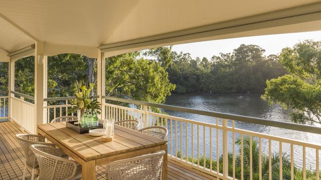 The view from the veranda at the home at 87a Bank Street, Graceville.