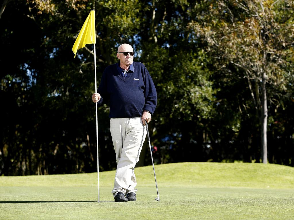 Marrickville Golf Club president Eddie Lakiss has vowed to fight proposals to transform, or reduce, the size of the Marrickville course. Picture: John Appleyard