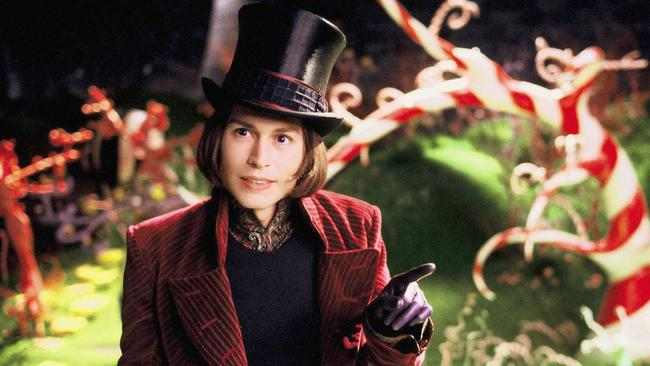 Cheeky reply ... Paris gently bagged the 2005 remake Charlie and the Chocolate Factory, which starred Johnny Depp as Willy Wonka. Picture: Supplied