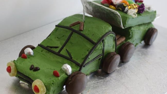 The dreaded tip-truck cake. Try it if you dare. Picture: Felicity Glennie-Holmes