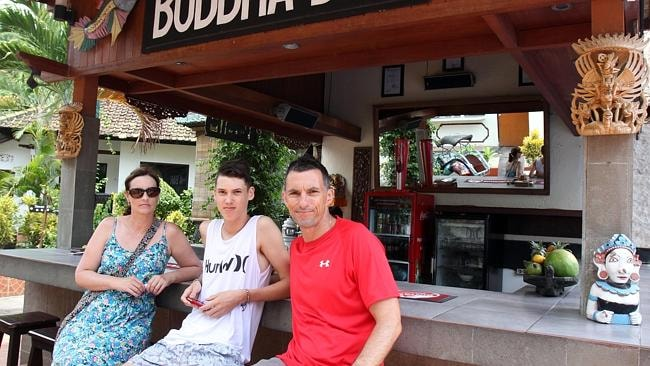 The Hayes family from Adelaide - Danielle Hayes, her son Connor and husband Tony - saw the mother and daughter at dinner before their tragic deaths.