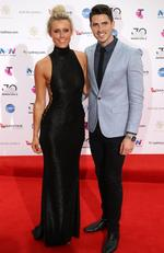 Olivia Phyland and Scott Tweedie arrive on the red carpet for the 30th Annual ARIA Awards 2016 at The Star on November 23, 2016 in Sydney, Australia. Picture:Jonathan Ng