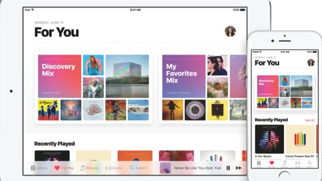 It's unclear if Apple will create a separate service to its music streaming platform.