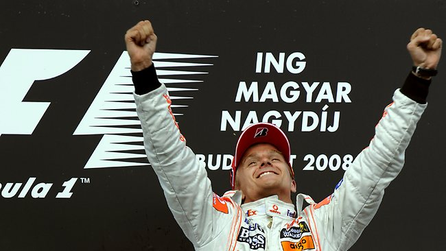 Heikki Kovalainen his 2008 Hungarian Grand Prix win. The Finnish driver has been brought in to replace Kimi Raikkonen at Lotus for the final two races of the season.
