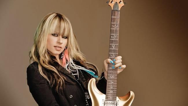 Gun for hire ... Orianthi plays in bands with Alice Cooper and Richie Sambora.