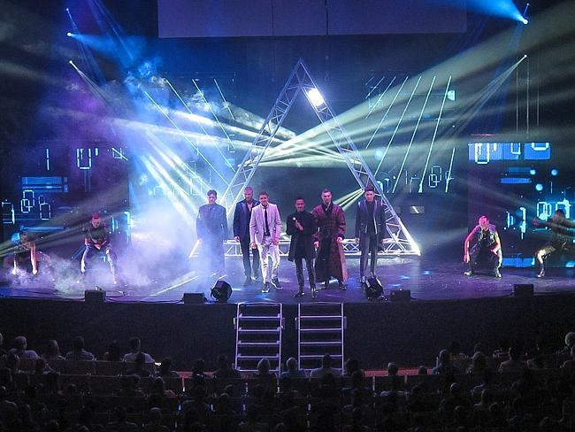 The Illusionists on stage at the Opera House on Saturday afternoon.