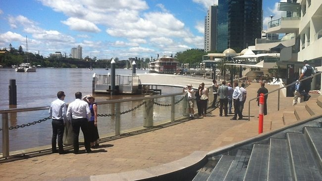 The Brisbane River in the CBD on Tuesday.