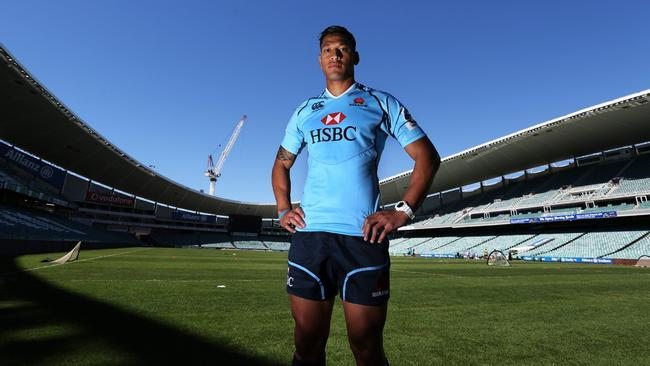 Israel Folau was a key signing for the Waratahs at the end of 2012.