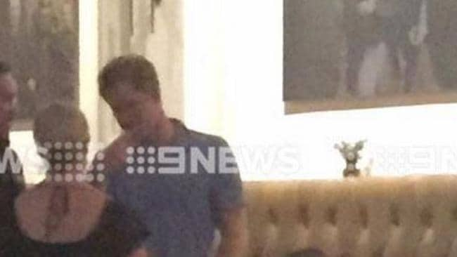 Prince Harry at The Stables bar in Perth Australia.